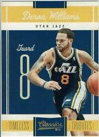Panini Classics 2010/11 Carte Deron Williams Utah Jazz Limité #050/100
