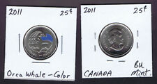 2011 Canada OUR LEGENDARY NATURE 25-cents Coin - UNC  - Orca Whale