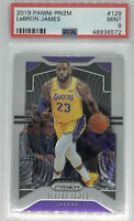 2019-20 Panini Prizm #129 LeBron James Lakers Championship Season PSA 9 MINT 👑