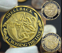 """United States U.S. Navy / Shellback """"Crossing the Line"""" USN Challenge Coin"""
