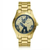 Michael Kors MK6243 Layton Blue Crystal Pave Dial Gold Women's Watch