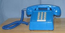 Cortelco Royal Blue Push Button Corded Desk Telephone Phone Vintage Retro Style