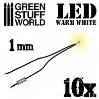 micro Luci LED Bianco Caldo - 1mm - Diorami Infinity treni illuminazione