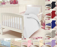 Cot Bedding Duvet Cover Set Fitted Sheet Egyptian Cotton Baby 200 Thread Count