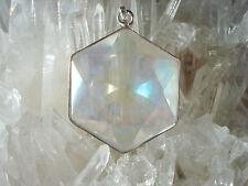 Flower of Life in Angel Aura-Opal Aura Quartz  Pendant-Harmonized Energy