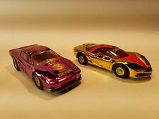 Cal Custom HOT WHEELS Pink Chrome Ferrari Testarossa, Pontiac Banshee Real Rider