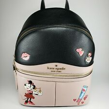 Kate Spade X Disney Minnie Mouse Medium Backpack 2 Wallets Limited Edition Set