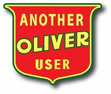 "OLIVER TRACTOR REPRODUCTION VINYL DECAL STICKER 3.5"" X 4"" ENDURING QUALITY!"