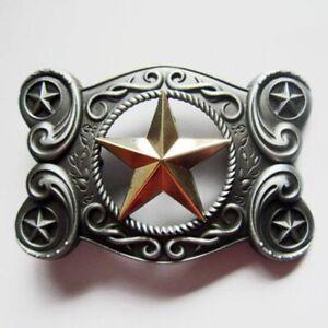 Buckle Western Gold Star Tattoo Celtic Gürtelschnalle
