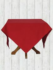 """April Cornell Red Tablecloth Essential Collection NWT 100% Cotton 60x60"""""""