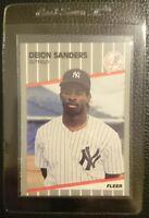 1989 FLEER UPDATE #U-53 DEION SANDERS ROOKIE CARD RC NEW YORK YANKEES MINT