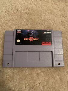 Mortal Kombat II 2 SNES Super Nintendo Game Cartridge Tested Authentic CLEAN