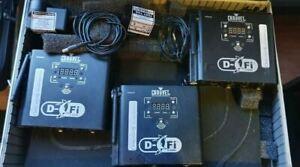 Chauvet D-Fi Wireless DMX System - 3 x Transceivers (Tx and Rx)