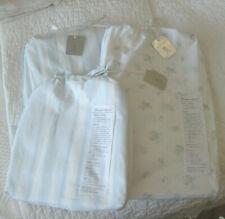 Rachel Ashwell High End King Sheet Set New (4)pc Blue Floral white Shabby Chic