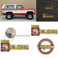 Cheyenne/K5 BLAZER Logo 3D Badge Plate Sticker for Traxxas TRX-4 RC4WD D90 D110