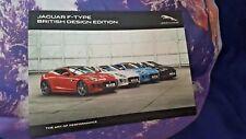 Jaguar F Type British Design Edition Sales Brochure - MY17 - Softback - 13pg