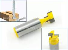 "12.75mm 1/2"" T-Slot Bottom Cleaner Cutter Cutting Cut Router Bit Milling Keyhole"