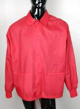 Turfer Vintage 90's Red Snap Front Nylon Jacket USA Made Men's Size XL