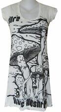 Yoga Mini Dress cap sleeve Maya Om Magic Mushrooms Inka Hippie S Sure Zen Cotton