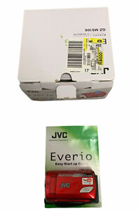 JVC Everio S Red GZ-MS100 Memory Camcorder with Battery No Charger Not Tested