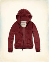 NWT HOLLISTER by ABERCROMBIE WOMEN'S Velour Full-Zip Hoodie ALL SIZE