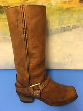 Vtg Women's Brown Leather Harness, Biker, 74226 Urban Hipster Boots 6.5