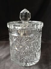 Crystal Covered Biscuit/Cracker/Cookie/Candy Jar w/ Finial - Exquisite!