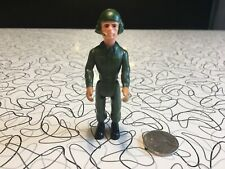 Fisher Price Construx Action Figure Army Tank Pilot 1985 Vintage Used