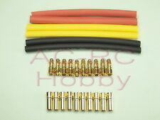 3.5mm banana bullet Connector 10 pairs with heat shrink tube 450 500 motor