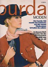 Burda Moden 08. 1970 August mit Schnittmusterbogen und Nähanleitungen
