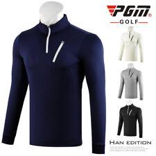 Pgm Men Golf Shirts Long Sleeves Zipper T Shirt Man Breathable Tops Golf Jerseys