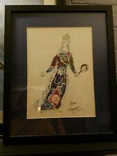 Marc Chagall SIGNED framed book plate - Herman Darvick (PSA) COA LOA