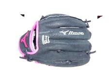 "Mizuno 10"" Finch Prospect Softball Glove, Left Hand Throw, Black and Pink"