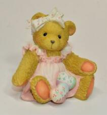 """1992 Enesco Hearts Quilted with Love by Priscilla Hillman Amy Bear 3""""h Figurine"""