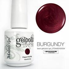 15ml Mabel's Gel Nail Art Soak Off Color UV Gel Polish UV Lamp - Burgundy