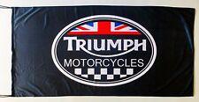 TRIUMPH FLAG MOTORCYLES BLACK - SIZE 150x75cm (5x2.5 ft) - BRAND NEW