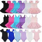 Girl Gymnastics Ballet Dress Kid Leotard Tutu Skirt Dance Ballerina Costume 2-12