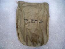 Vintage Vietnam War U.S. ARMY BARRACK Laundry Duffle Bag Olive Drab Stenciling