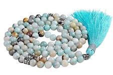 Malahill Buddhist Meditation Mala Prayer Japa Beads Necklace 108 pcs Amazonite