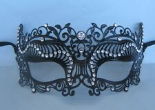 Black Filigree Metal Venetian Party Masquerade Mask No 7 * NEW *