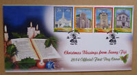 2014 FIJI CHRISTMAS 4 STAMPS FIRST DAY COVER FDC