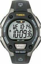 Timex Men's T5e901 Ironman Classic 30 Full-size Black Gray Resin Strap Watch