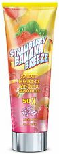 Fiesta Sun Strawberry Banana Breeze Dark Sunbed Tanning Bronzing Lotion + GIFT