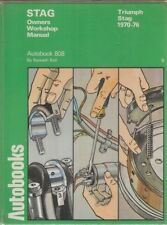 TRIUMPH STAG MK1 & MK2 MANUAL / AUTO ( 1970 - 1976 ) OWNERS WORKSHOP MANUAL