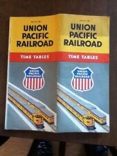 April, 1956 Union Pacific Railroad Timetable, Vintage, Time Table Old Free Ship