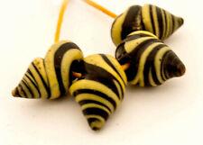 Four Rare Antique Venetian Snail Beads | African Trade