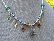 TreeSisters Donation Autumn Leaves Delights European Charm leaf toggle Necklace