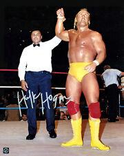 Hulk Hogan Signed Wrestlemania 16x20 Photo w/ Muhammad Ali ASI Proof