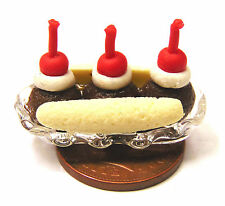 1:12 Scale Banana Split Ice Cream In A Glass Dish Tumdee Dolls House Dessert i85