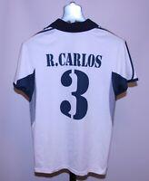 RETRO Real Madrid Spain football shirt #3 Roberto Carlos Brazil Size S